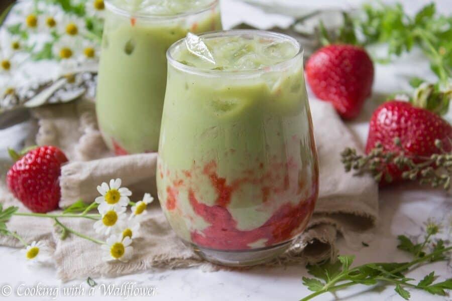 Iced Strawberry Matcha Latte