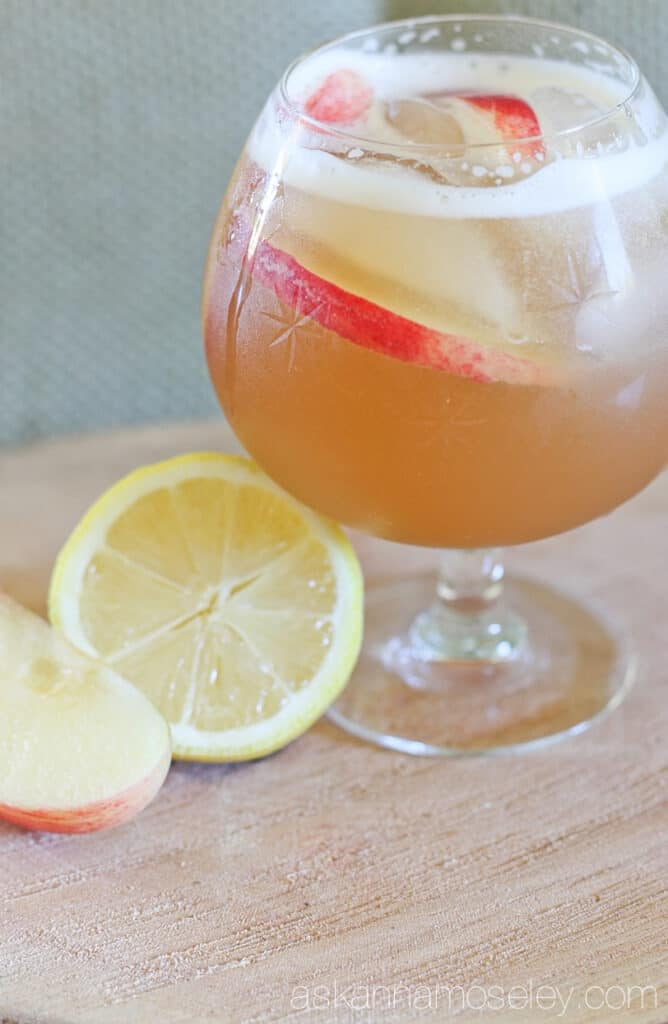 Burbon maple apple cider cocktail | Ask Anna