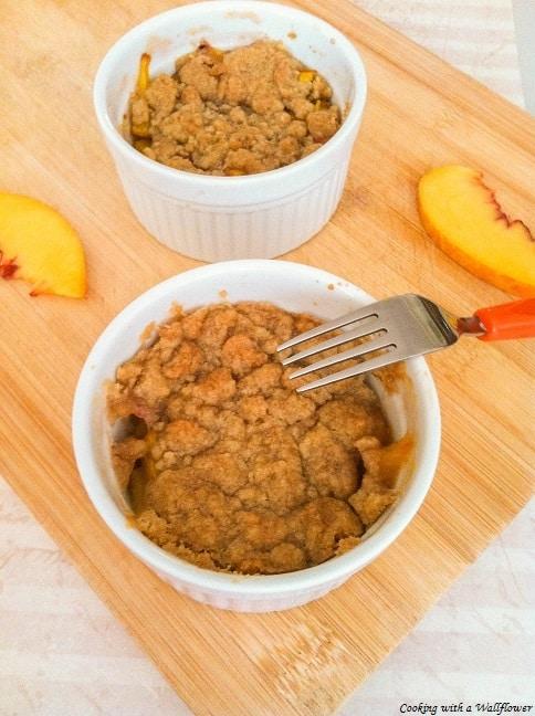 Easy Peach Crumble | Ask Anna