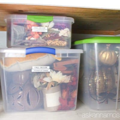 Seasonal Decor Organization Tips