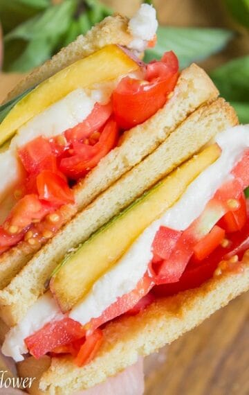Peach Caprese Sandwich | Ask Anna
