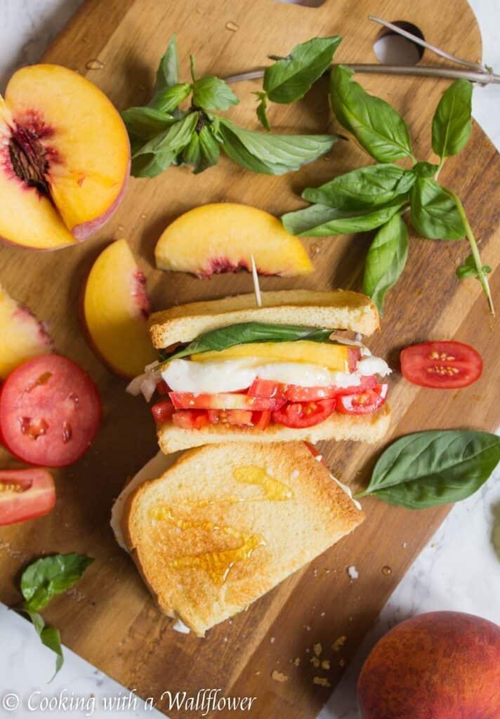 Peach Caprese Sandwich